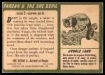 1953 Topps Tarzan and the She Devil #2   Leaping Death Back Thumbnail