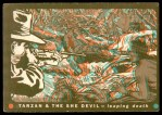 1953 Topps Tarzan and the She Devil #2   Leaping Death Front Thumbnail