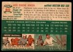 1954 Topps #80  Jackie Jensen  Back Thumbnail