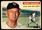 1956 Topps #301  Marv Grissom  Front Thumbnail