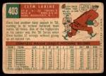 1959 Topps #403  Clem Labine  Back Thumbnail