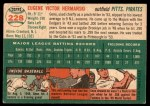 1954 Topps #228  Gene Hermanski  Back Thumbnail