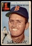 1954 Topps #40 WHT Mel Parnell  Front Thumbnail