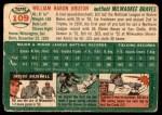 1954 Topps #109  Billy Bruton  Back Thumbnail