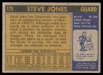 1971 Topps #175  Steve Jones  Back Thumbnail