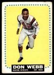 1964 Topps #20  Don Webb  Front Thumbnail