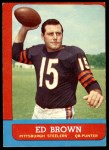 1963 Topps #122  Ed Brown  Front Thumbnail