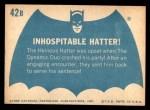 1966 Topps Batman Blue Bat Back #42   Inhospitable Hatter! Back Thumbnail