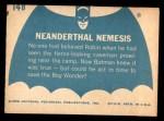1966 Topps Batman Blue Bat Back #14   Neanderthal Nemesis Back Thumbnail