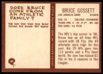 1967 Philadelphia #89  Bruce Gossett  Back Thumbnail