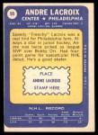 1969 Topps #98  Andre Lacroix  Back Thumbnail