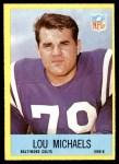 1967 Philadelphia #22  Lou Michaels  Front Thumbnail