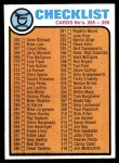 1973 Topps #338   Checklist 3 Front Thumbnail