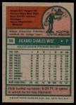 1975 Topps #56  Rick Wise  Back Thumbnail