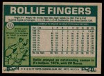 1977 Topps #523  Rollie Fingers  Back Thumbnail