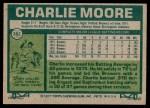 1977 Topps #382  Charlie Moore  Back Thumbnail