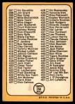 1968 Topps #356 RT  -  Ken Holtzman Checklist 5 Back Thumbnail