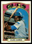 1972 Topps #117 GRN Cleo James  Front Thumbnail