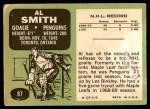 1970 Topps #87  Al Smith  Back Thumbnail