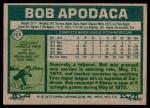 1977 Topps #225  Bob Apodaca  Back Thumbnail