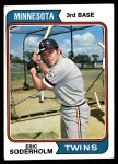 1974 Topps #503  Eric Soderholm  Front Thumbnail