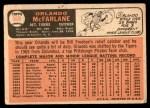 1966 Topps #569  Orlando McFarlane  Back Thumbnail