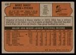 1972 Topps #488  Mike Nagy  Back Thumbnail