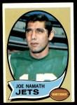 1970 Topps #150  Joe Namath  Front Thumbnail