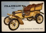 1954 Topps World on Wheels #45   Franklin Rear Entrance Touring 1904 Front Thumbnail