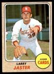 1968 Topps #117  Larry Jaster  Front Thumbnail