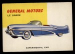 1954 Topps World on Wheels #87   GM Le Sabre Front Thumbnail