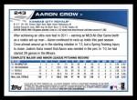 2013 Topps #243  Aaron Crow   Back Thumbnail