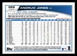 2013 Topps #326  Andruw Jones   Back Thumbnail