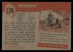 1954 Topps World on Wheels #126   Triumph Back Thumbnail