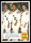 1969 Topps Man on the Moon #38 B  1St Manned Mission Front Thumbnail