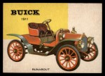 1954 Topps World on Wheels #9   Buick Bug Runabout 1911 Front Thumbnail