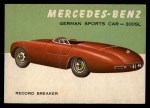 1954 Topps World on Wheels #27   Mercedes-Benz 300-SL Front Thumbnail