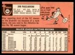 1969 Topps #302  Jim Pagliaroni  Back Thumbnail
