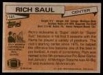 1981 Topps #141  Rich Saul  Back Thumbnail