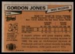 1981 Topps #108  Gordon Jones  Back Thumbnail