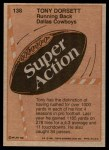 1981 Topps #138  Tony Dorsett  Back Thumbnail