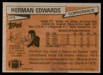1981 Topps #179  Herman Edwards  Back Thumbnail