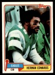1981 Topps #179  Herman Edwards  Front Thumbnail