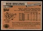 1981 Topps #33  Bob Breunig  Back Thumbnail