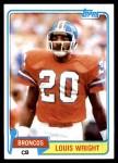 1981 Topps #385  Louis Wright  Front Thumbnail