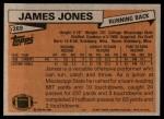 1981 Topps #269  James Jones  Back Thumbnail