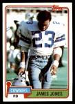 1981 Topps #269  James Jones  Front Thumbnail