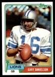 1981 Topps #274  Gary Danielson  Front Thumbnail