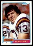 1981 Topps #402  Ron Yary  Front Thumbnail