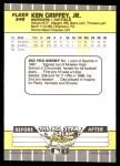 1989 Fleer #548  Ken Griffey Jr.  Back Thumbnail